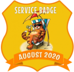 Service Badge: August 2020
